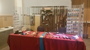 Our shared booth at Madicon 2015. We had to experiment a bit when we had more space than expected - definitely the direction you want a surprise to go!
