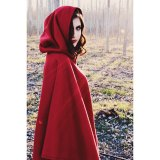 This stunning photo by Phylicia Garcia #phyliciagarciaphotography used Cynthia's short red fleece cape. Glad it worked for you Red Riding Hood photo shoot!
