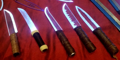 Nathaniel's light up blades were a huge hit at their first event.
