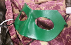 Poor lonely Green Lantern - you're the only one of my new leather masks that didn't sell!