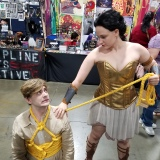 It was the weekend of Wonder Woman! This amazon came back to show off the bracers she bought from us.