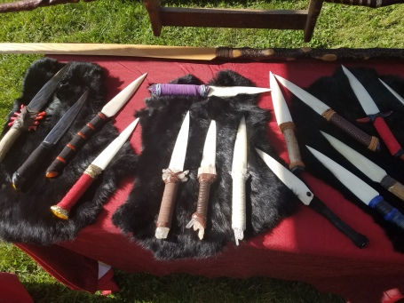 Nathaniel put out a great display of new bone knives for the fall.